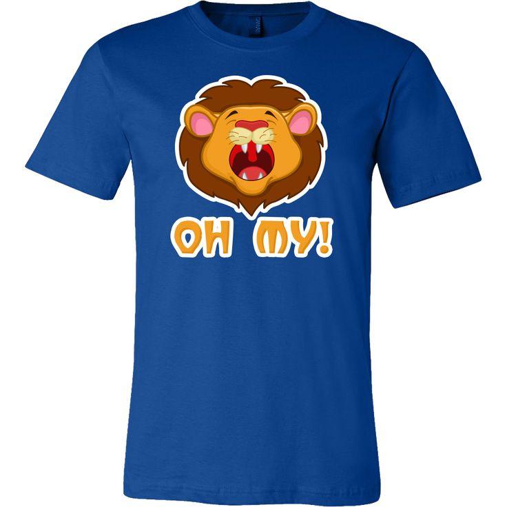 Lion Cartoon Face, Oh My, Funny Pun Joke Gift T-Shirt