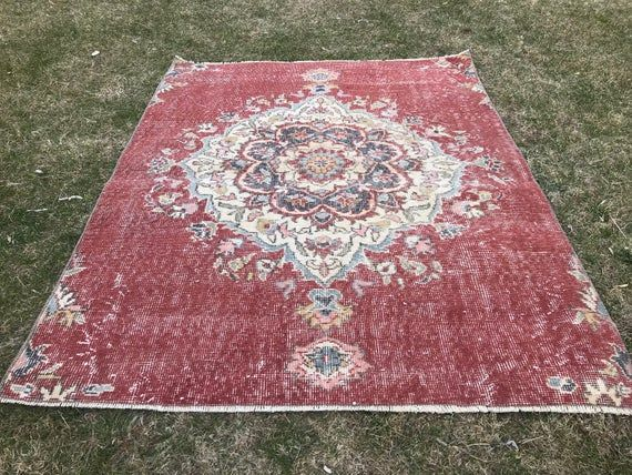 3 7x4 7 Ft 112x144 Small Red Rug