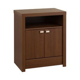 Prepac Furniture Modern Warm Cherry Nightstand Ldnh-0502-1