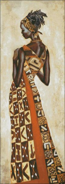 Mujer Africana IV - elhilomagico.com