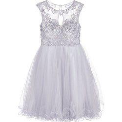Luxuar Fashion Sukienka koktajlowa silbergrau