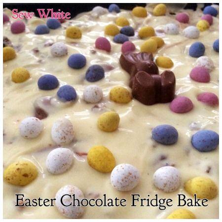 Sew White Easter chocolate fridge bake