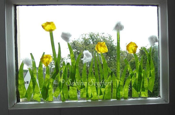 Blumenwiese pusteblume 1 basteln mit kindern kita for Pusteblume dekoration