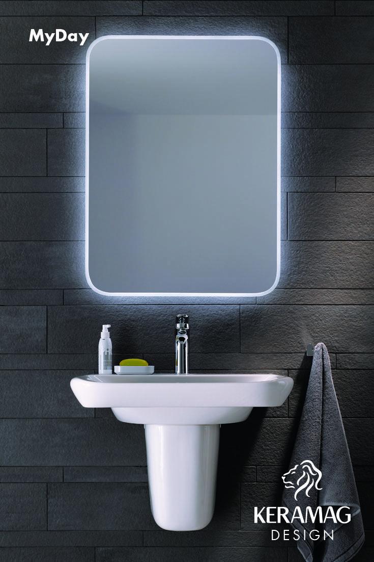 The myDay collection's semi pedestal basin by Keramag Design UK. Find more at: http://www.keramagdesign.com/