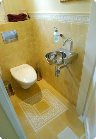 Castelo toilet #geel #yellow #tiles