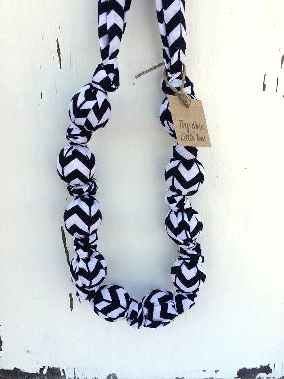 Black and White Chevron Teething/Nursing by TinyNoseLittleToes