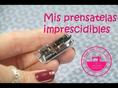 """El blog de """"Coser fácil y más by Menudo numerito"""" - Costura creativa: Mis prensatelas imprescindibles I"""
