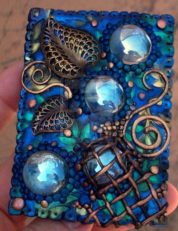 ACEO Droplets and leaves by MandarinMoon.deviantart.com on @deviantART