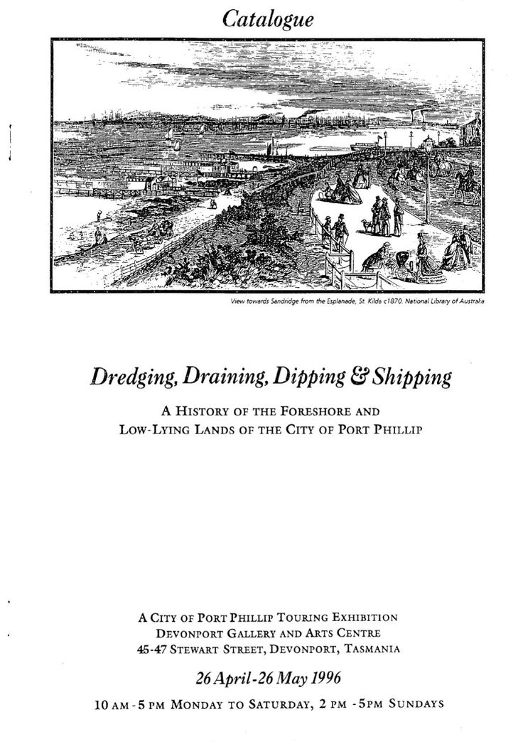 A history of the foreshore and low lying lands of the City of Port Phillip.