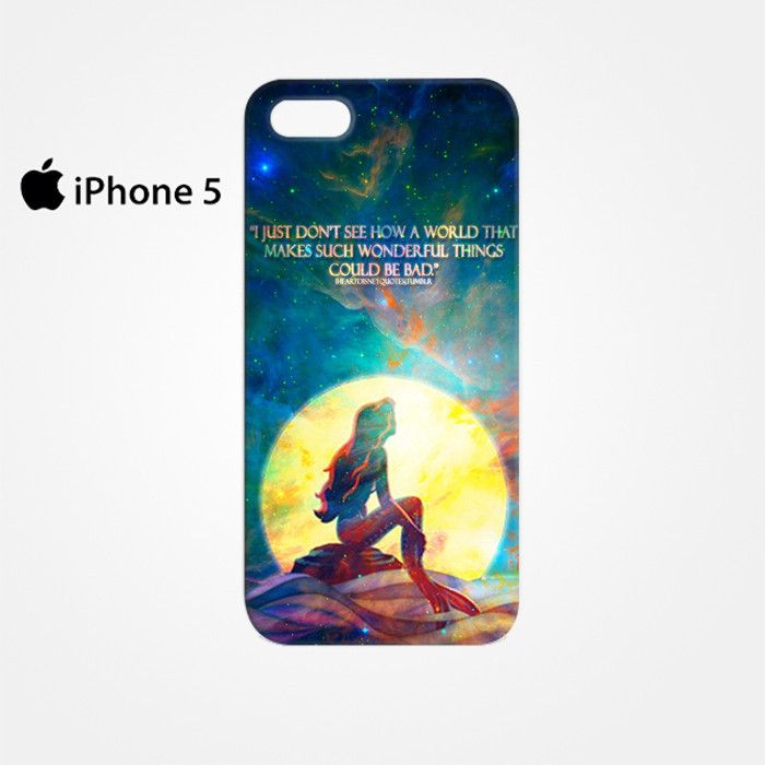 The Little MErmaid Quote for Iphone 4/4S Iphone 5/5S/5C Iphone 6/6S/6S Plus/6 Plus 3D Phone case