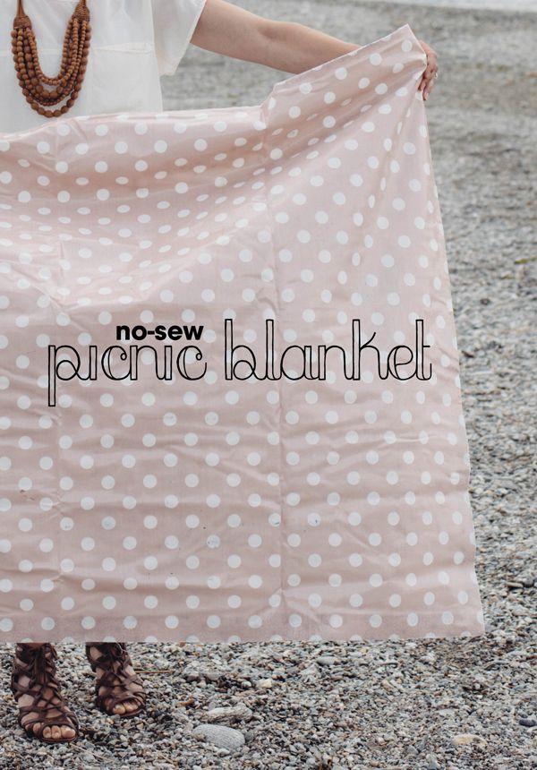 HAZ TU PROPIO MANTEL DE PICNIC (No-sew picnic blanket) #diy