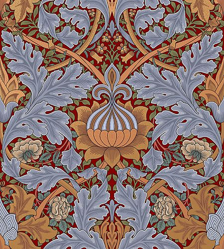 This beautiful paper was designed by William Morris for Queen Victoria's throne room in St. James's palace. #bradburywallpaper