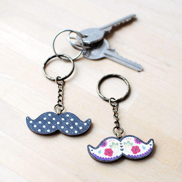 New to Onetenzeroseven on Etsy: Moustache Keyring | Gifts For Men | Housewarming Gift (7.00 GBP)