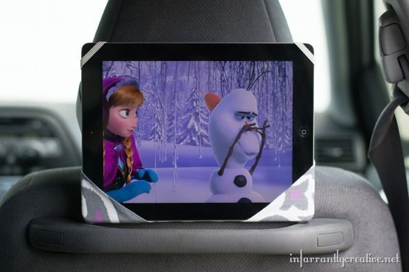 DIY iPad Holder For Your Car's Headrest
