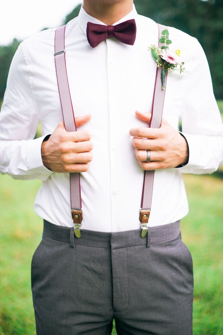 southern bohemian style: matching suspenders & bow-tie Photography: Kayla Coleman Photography - www.kaylacolemanphotography.com