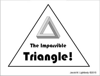 how to draw the impossible triangle step by step