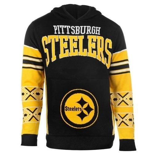 reputable site a3548 3674a Pittsburgh Steelers Big Logo Hooded Sweater | Steeler Nation ...