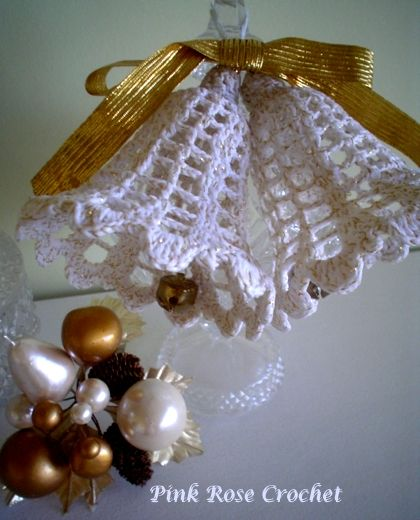 Pink Rose Crochet: Search Results christmas bell