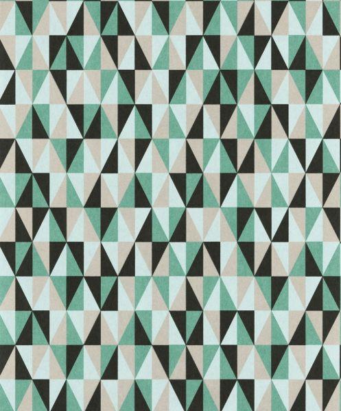 Trendig #tapet med geometriskt mönster från kollektionen Livium LIV402. Klicka för att se fler #inspirerande #tapeter för ditt hem!