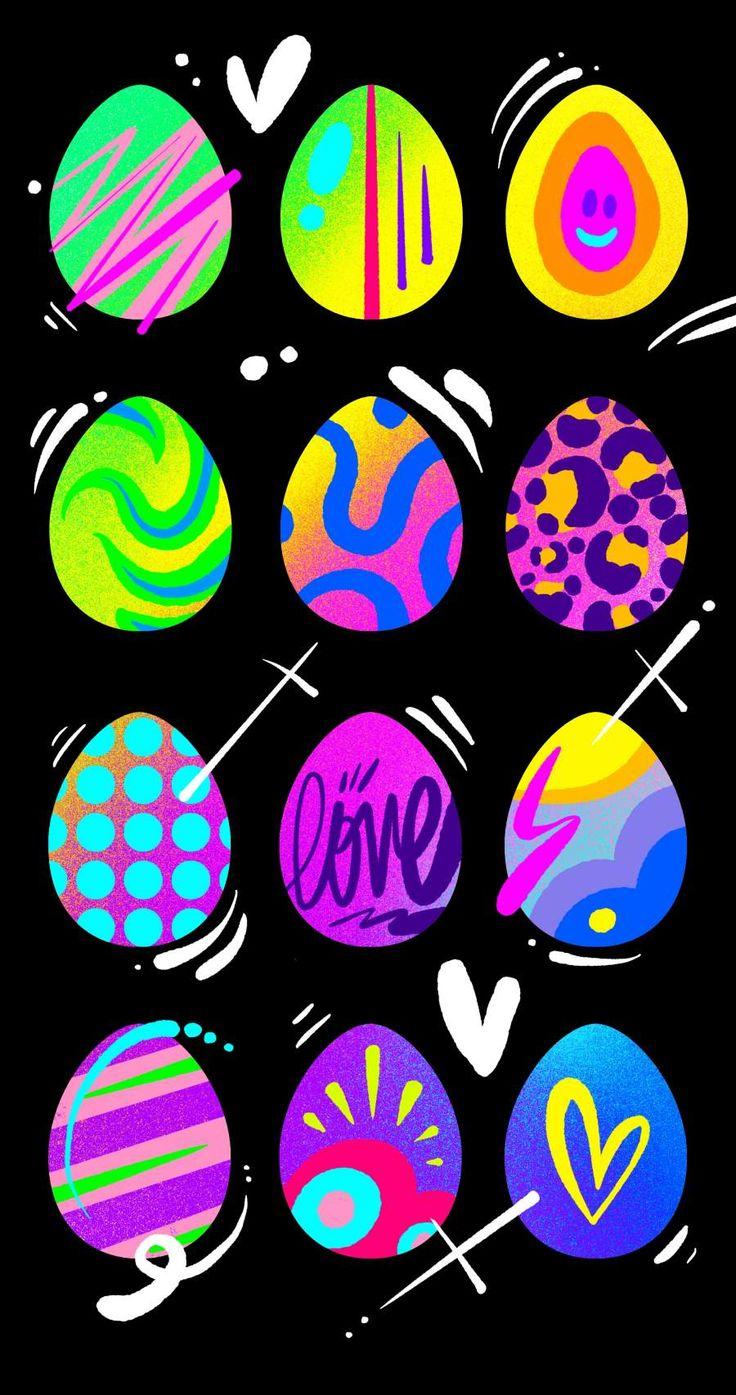 Easter Eggs iPhone Wallpaper Iphone wallpaper, Wallpaper