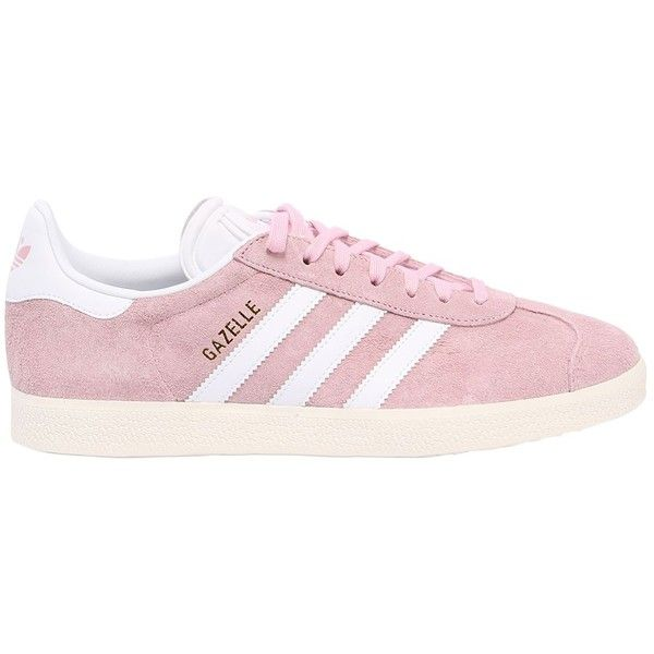 Adidas Originals Women Gazelle Nubuck Sneakers (€120) ❤ liked on Polyvore featuring shoes, sneakers, pink, nubuck shoes, pink shoes, pink sneakers, nubuck sneakers and adidas originals shoes