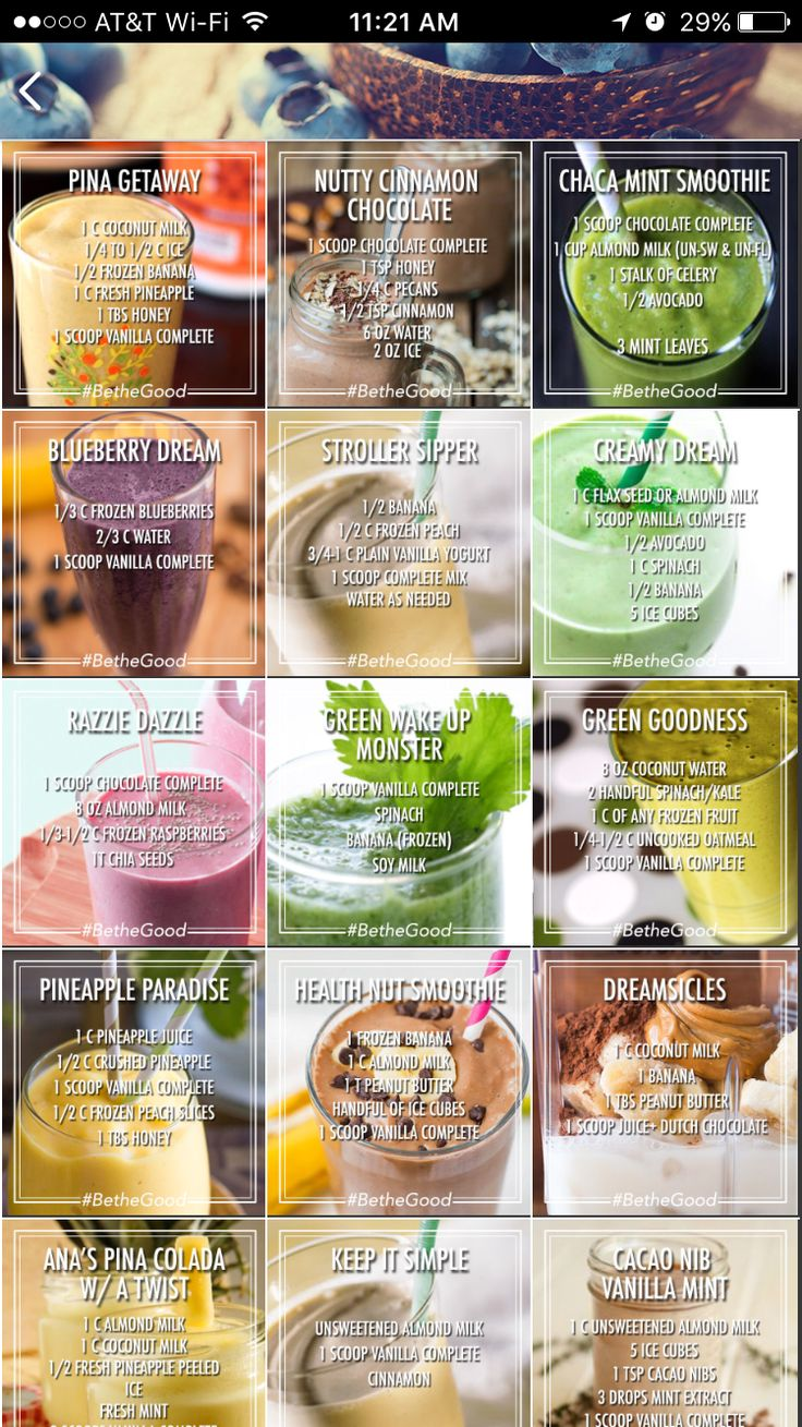 Delicious recipes #noStarving Buy Juice Plus+ Complete vanilla or chocolate here: http://vanniekerk.juiceplus.com/us/en/buy/complete/juice-plus--complete-variety