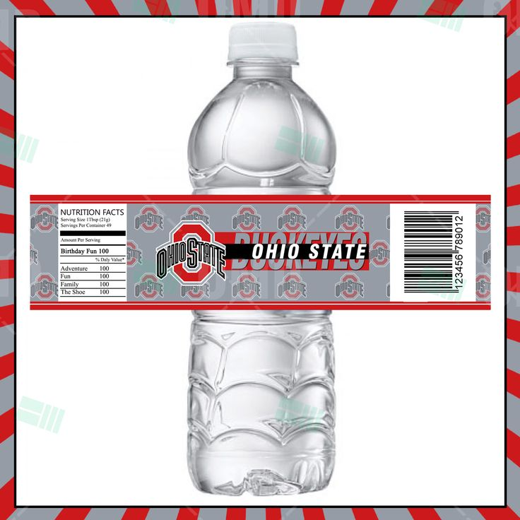 584 best ohio state buckeyes images on pinterest ohio for Buy water bottle labels