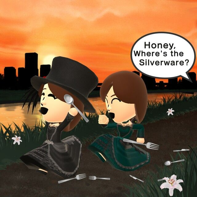 This is an accurate picture of my sister and I.Miitomo form of course