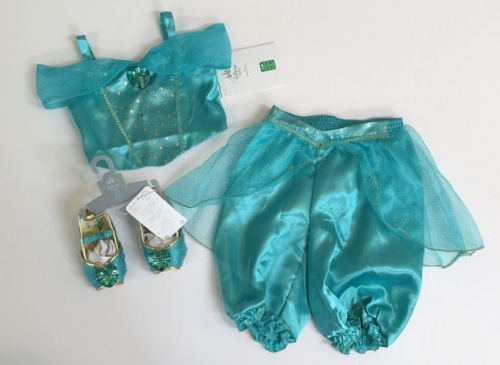Halloween Costumes Kids: Nwt Disney Store Aladdin 3-6 Months Turquoise Princess Jasmine Costume And Shoes BUY IT NOW ONLY: $69.95