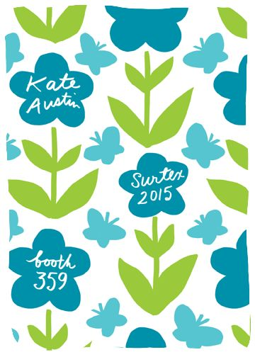 Kate Austin Designs will be exhibiting at Surtex 2015, in booth 359