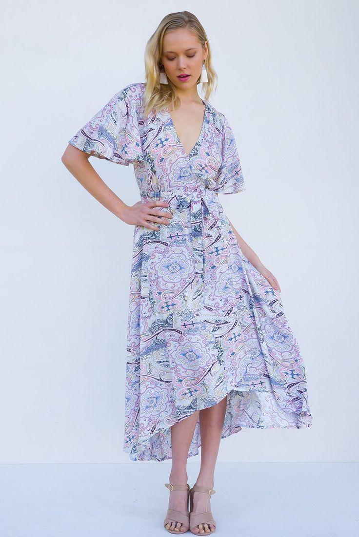 Petal Icing Sugar Maxi Wrap Dress