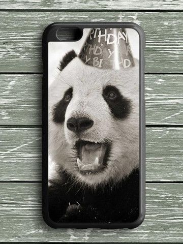 Black White Birthday Panda iPhone 6S Plus Case