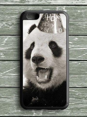Black White Birthday Panda iPhone 6S Plus Case