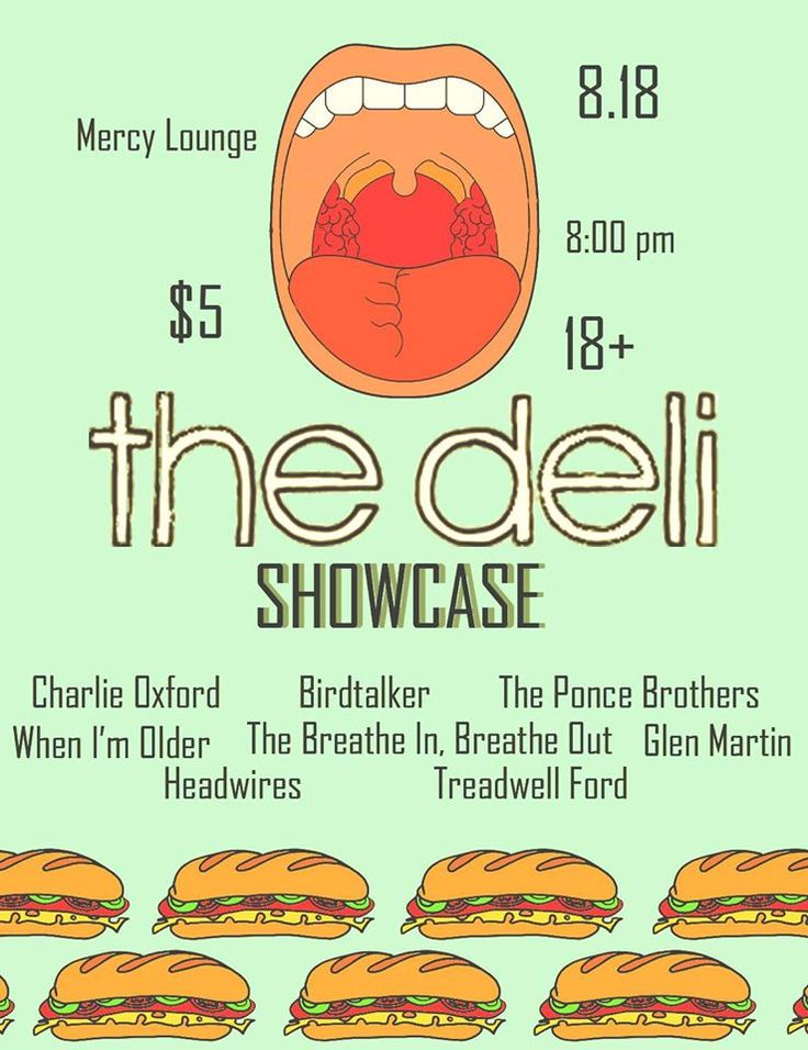 Cowabunga! Because of you guys we made the bill for The Deli Nashville Showcase at Mercy Lounge! Show is this Tuesday, August 18, 2015. Thank you for voting!