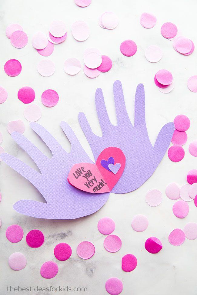 Handprint Valentine Craft Kids Valentine S Day Activities