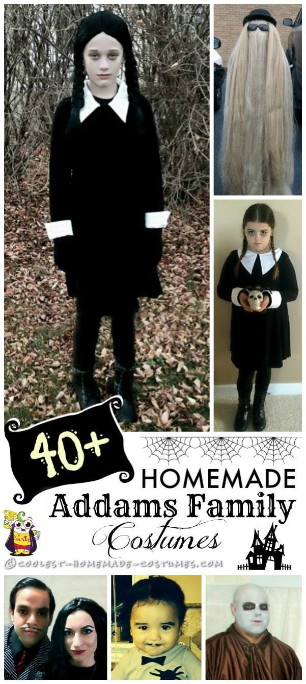 40  Awesome Homemade Addams Family Costumes