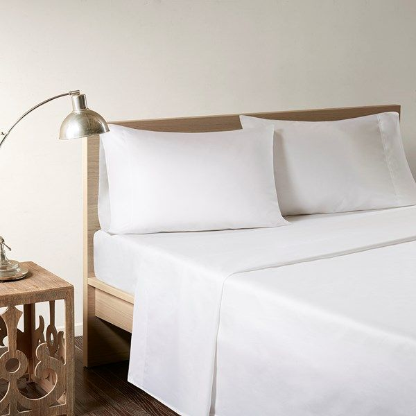 Sleep Philosophy Rayon From Bamboo Cal King Sheet Set In White