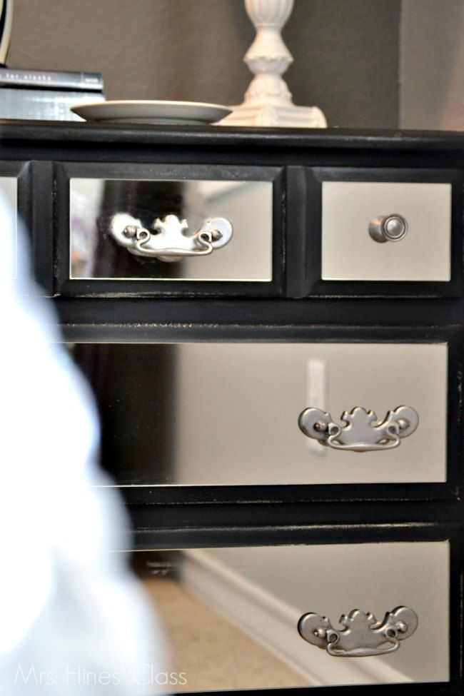 DIY Mirrored Nightstand / www.mrshinesclass.com #sponsored #ad