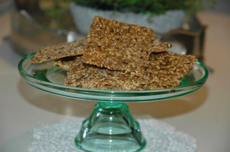 ganske enkelt: Glutenfrie knekkebrød med chiafrø