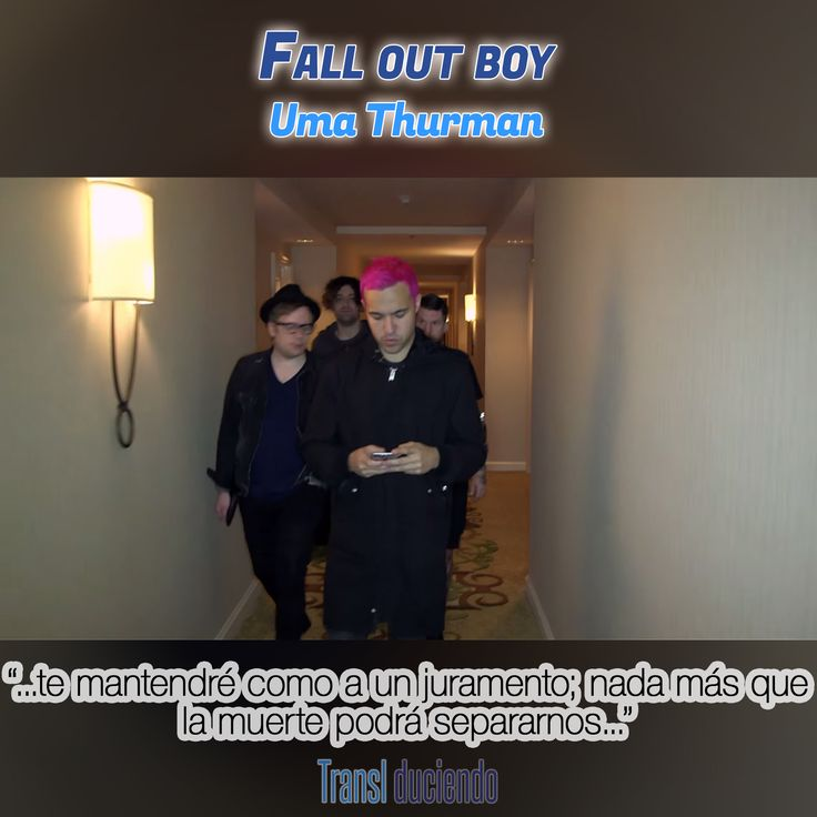 Canción traducida: #FallOutBoy - #UmaThurman | #AmericanBeautyAmericanPsycho #ABAP Encuéntrala completa en: http://transl-duciendo.blogspot.com.au/2015/06/fall-out-boy-uma-thurman-uma-thurman.html