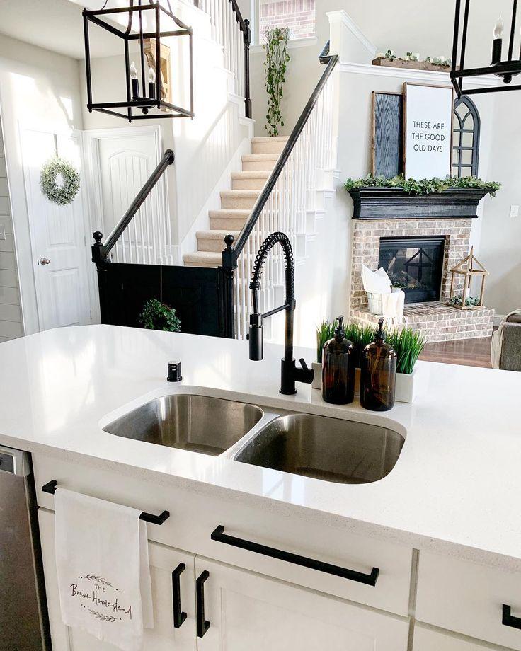 Matte Black Pre Rinse Faucet Small Cottage Kitchen Black Kitchen Faucets Cottage Kitchen Design