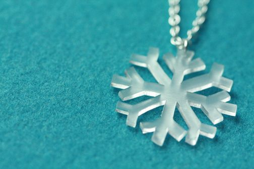 shrinky dink snowflake necklace charm