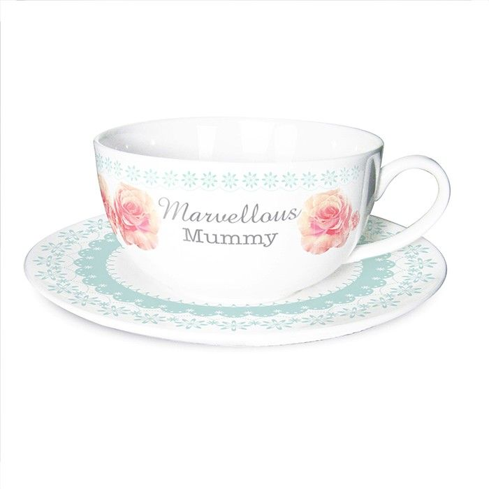 Vintage Rose Cup & Saucer  £14.99 Plus Free UK Delivery