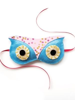 make this cute owl eye mask for a slumber party! (easy instructions) by Kate Stewart (me) via @TodaysParent