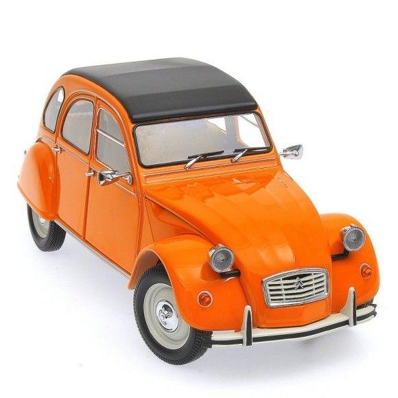 La 2 Chevaux  #citroen #2cv #culte #vintage orange Citroen 2CV