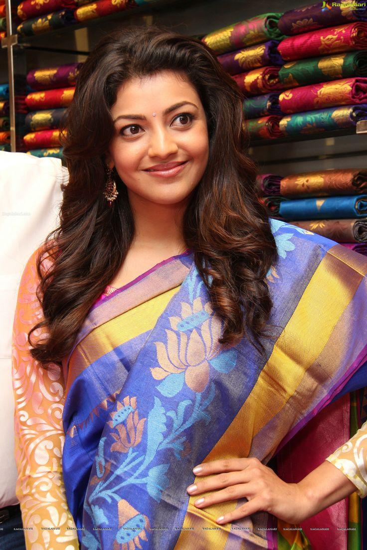 Kajal Agarwal in Silk Saree Actress pics, Saree