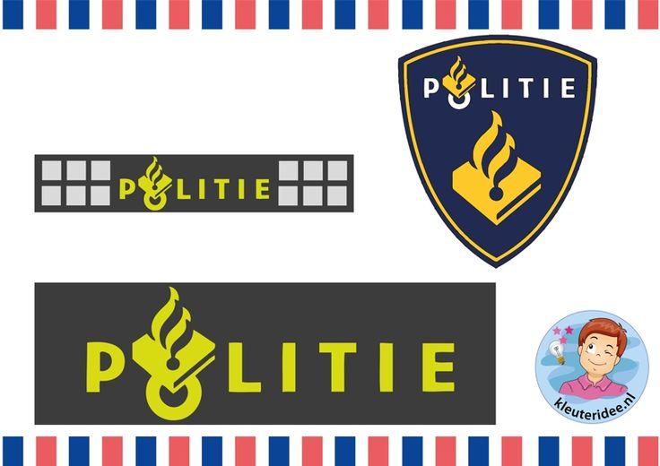 Politiehes knutselen met kleuters 6, met gratis download, kleuteridee.nl,  Kindergarten police theme