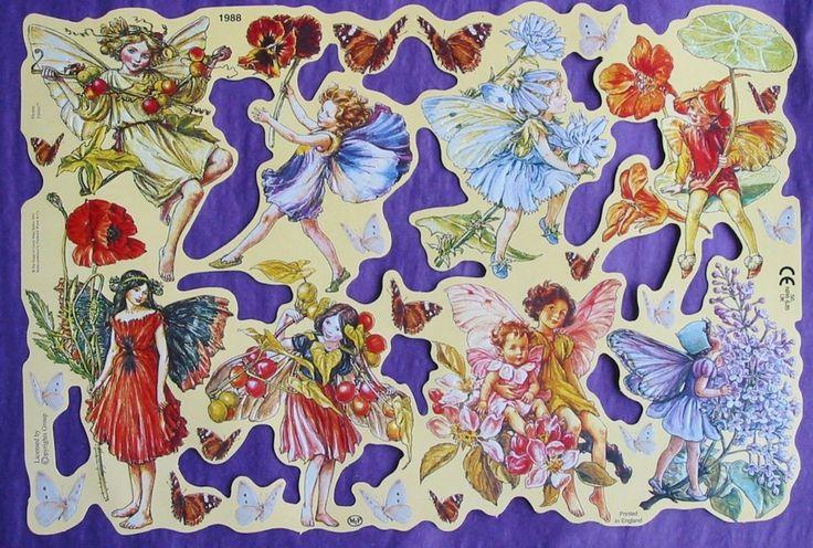 Victorian Scrap Paper Die Cut Flower Fairy