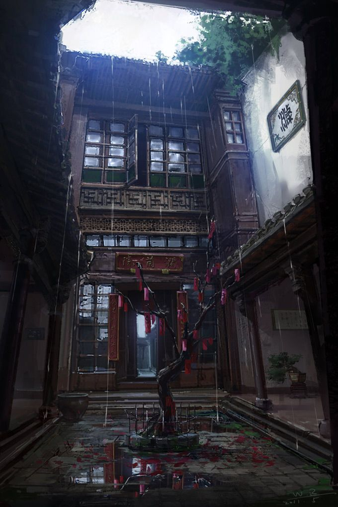 Chinese Courtyard WIP - Polycount Forum