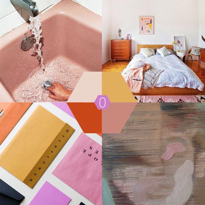 Kleur-palet: warme tinten met een kleurkick | OCHER #red #pink #oranje #roze #rood #lila #kleur #kleurinspiratie